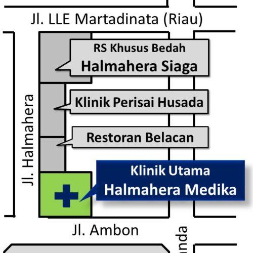 Peta Klinik Utama Halmahera Medika